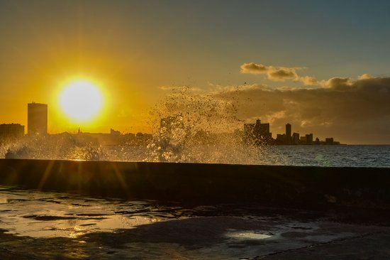 Beautiful sunset in Havana. I took this shoot from Malecon Ave at 6:20pm!!!""