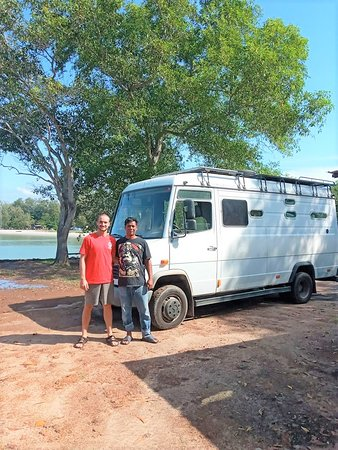 """MOBYDICK TRAVELLER AND Mr """"H"""" tHEY TRAVEL AROUND THE WORLD AND FIND US THEIR BEST SPOT IN PORT DICKSON. CAMPERVAN FRIENDLY CAMPSITE"""