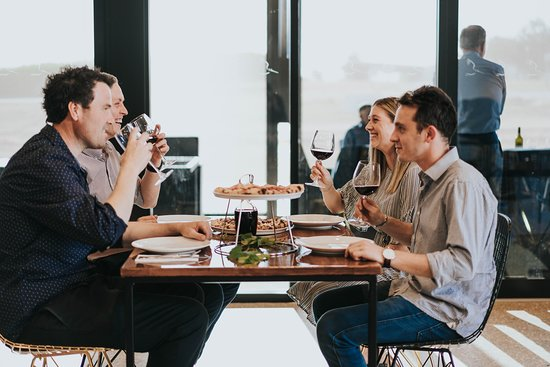 Diner's enjoying their meal