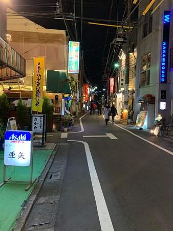 The street, in lovely Nakameguro, not far from the station.