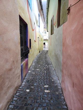 このスフォリー通りのどちらかの壁が私たちの宿泊した部屋(どっちか忘れました)