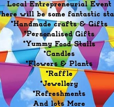 Hanham, UK: Fantastic Entrepreneurial Event,  There be some fantastic stalls for you to come and have a browse,  *Handmade gifts & crafts *Personalised gifts *Food stalls *Flowers and plants *Jewellery *usbourne books *Refreshments & Lots More FREE ENTRY and a FREE raffle ticket for everyone. Please come along and support our local communities small businesses, it' a great opportunity to meet our everyone and this will be a fantastic event and not to be missed, look forward too seeing you there. 😀 Saturday
