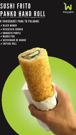 vegan sushi hand-roll covered with a crunchy crust of panko *6 options or flavors available on the menu