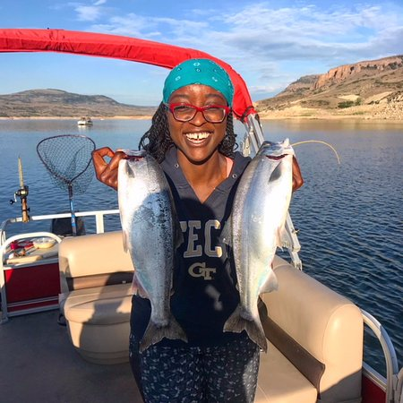Crawford, CO: Happy client with some big Blue Mesa Reservoir Kokanee Salmon!