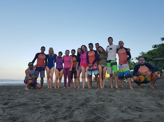 This was our fantastic group with all the instructors. I had such a blast surfing with them!