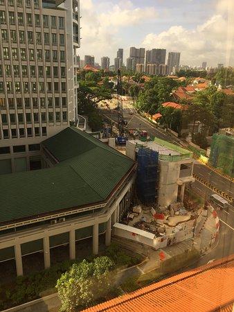 Construction work around the hotel.
