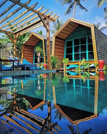 Gili Trawangan, Indonesia: Bungalow pool side absolute villa