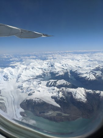 Beautiful views while flying to Antarctica!