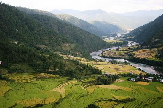 Punakha District, Bhutan: Tiny breathtaking county with amazement of natural landscape and high hill. This is truly one of the best place for ideal vacation for city dweller and to relax with your family.  Plan your trip with Bhutan first adventure & enjoy your vacation.