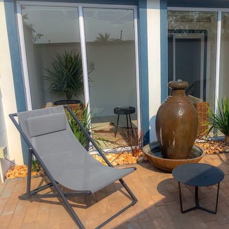 Our Deluxe Veranda Room Very Private 60 M2 Room With Private Entrance Private Terrace Private Outside Shower And A 20m2 Private Veranda Picture Of Pictures Guest House Oudtshoorn Tripadvisor