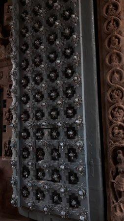 The huge wooden door
