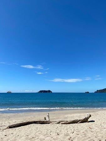 Manuel Antonio beach at the halfway point