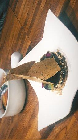 Chocolate cake and truffle ice cream