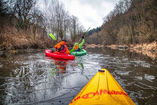 Cortina de hierro / cinta verde kayak...