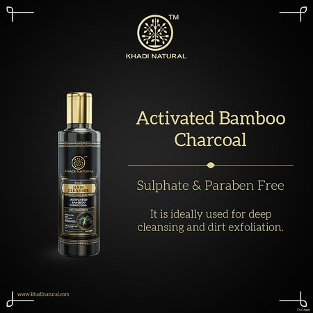 Activated Bamboo Charcoal Cleanser- Sulphate & Paraben  The Khadi Natural Activated Bamboo Charcoal scintillating Hair Cleanser helps in restoring the natural growth of hair and acts as a shampoo and helps in removing dandruff and reducing hair falls.  Discover the beauty of Khadi Natural Charcoal Hair Cleanser by our online Stores and give your hair the luxurious love and care it deserves. Visit:- http://bit.ly/2FLBy0E  #activatedcharcoalcleanser #skincare #beauty #naturalskincare #naturalbeaut