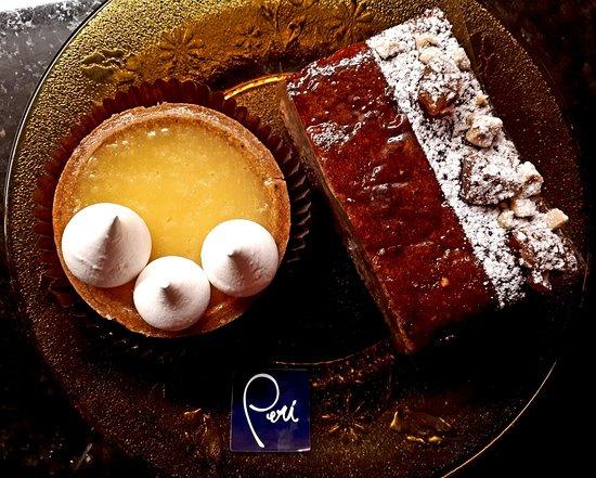 Verscio, สวิตเซอร์แลนด์: Köstlichkeiten: Passionsfrucht- und Marroni-Patisserie