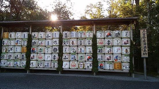 奉納された三重県の地酒