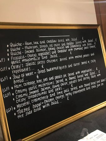 An Example of our weekly specials board