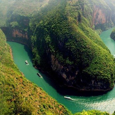 La riviere de Nho Que dans le nord vietnam. Vu du col de Ma Pi Leng