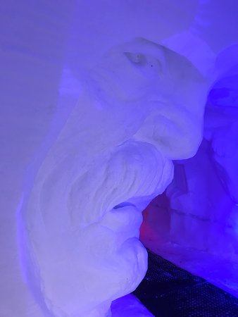 Art in a man made ice cave