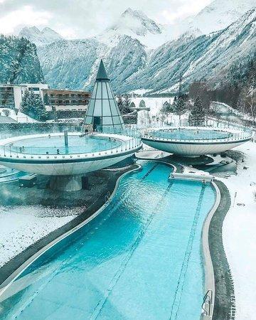 O Spa térmico perfeito, Aqua Dome em Tirol, Áustria! ❤