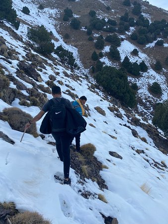 Atlas Mountain Valley Trekking - Ouirgane to Imlil 2 Days: snow hiking on the top