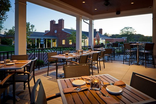 Outdoor seating at the Pub