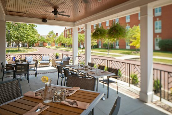 The outdoor patio at The Pub