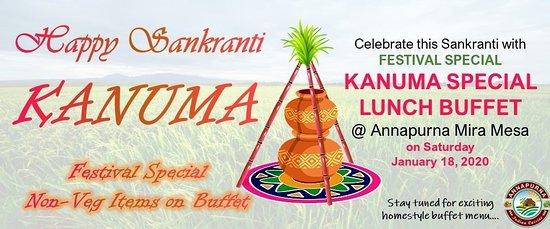 Happy Sankranti  Kanuma Special Lunch Buffet
