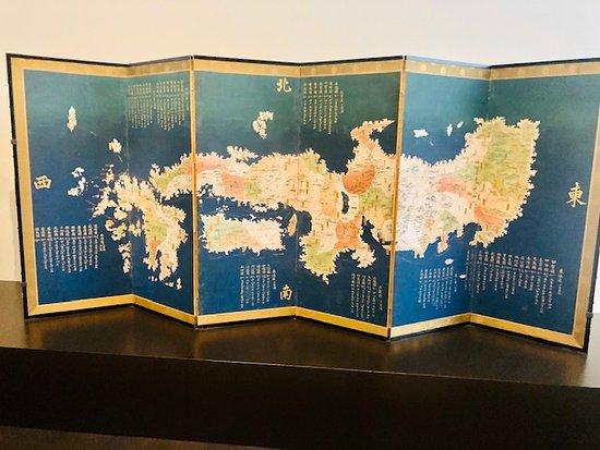 昔の日本地図。