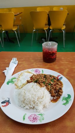 Thai Gold Food - Basil Minced Pork with Rice and Fried Egg