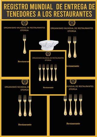 Lima, Peru: Organismo Mundial de Restaurantes, Registro Mundial de ENTREGA de TENEDORES a los Restaurantes, a nivel MUNDIAL,  Whatsapp +051955281901