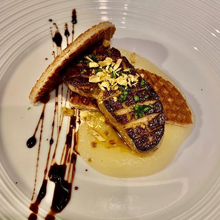 Foie Gras with Stroppwaffle in demi glace