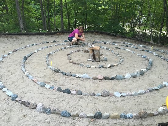 Georgian Bay, Канада: Meditate in the Sacred Labyrinth and receive as many blessings as the stones placed on the ground.... 386!