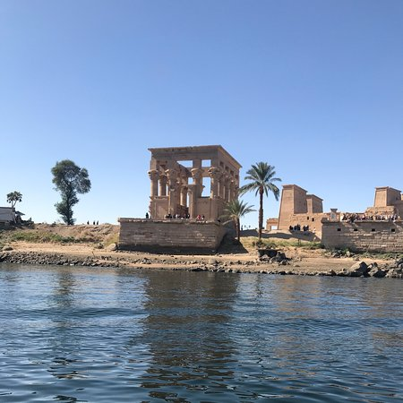 Philae, Египет:  No place in the world is peaceful and unique like Aswan city  This photo is taken where I was on the natural felluca  What a great weather and atmosphere  ❤️❤️❤️