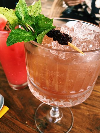 Ginbury Bush made with lime, redberry and mint and Colva Collins which contains gin with fresh watermelon juice, mint cordial and lime topped with lemonade.