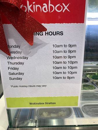 Wokinabox Stratton Opening Times