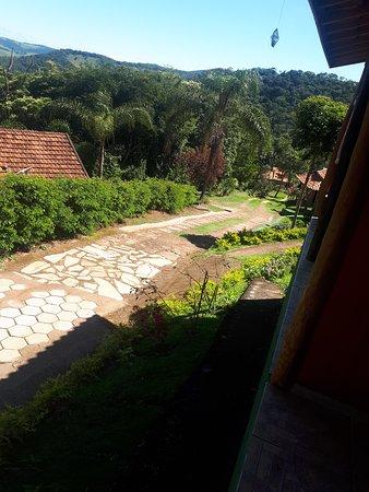 Vista do chalé da pousada Estalagem Mirante