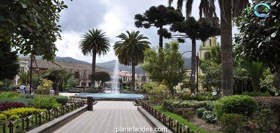 Park at Gualaceo, Ecuador. Small town near Cuenca.