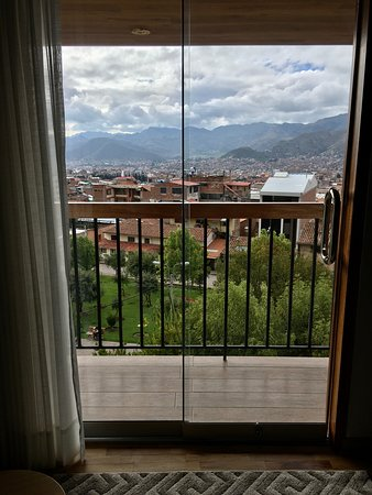 View from the suite's living room (5th floor)