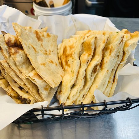huge selection of Naans and breads