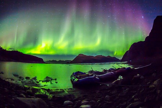 McCarthy, AK: Northern Lights are a added bonus to August Copper River Expeditions