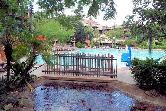 Pool area is beautiful