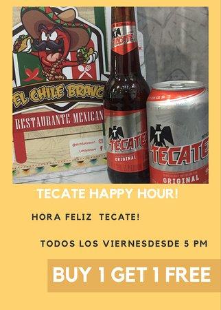Tacate happy hour! Guerrera como tu! Viernes de tecate! Paga 1 y recibe 1 gratis!
