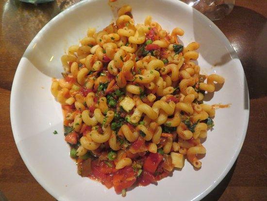 Cavatappi with spicy Marinara Sauce