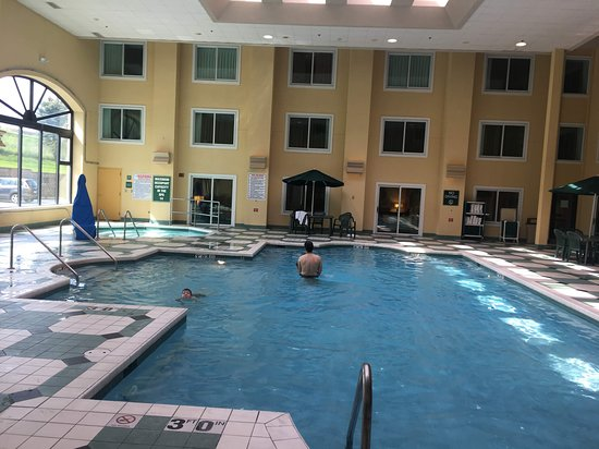 A Larger Then Average Size Indoor Pool Great For Lap Swimming