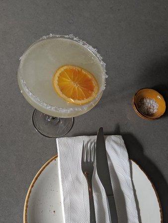 Interior design~ Amalfi Margarita~ Chilli Garlic Brandy Prawns & Suckling Pig Arancini