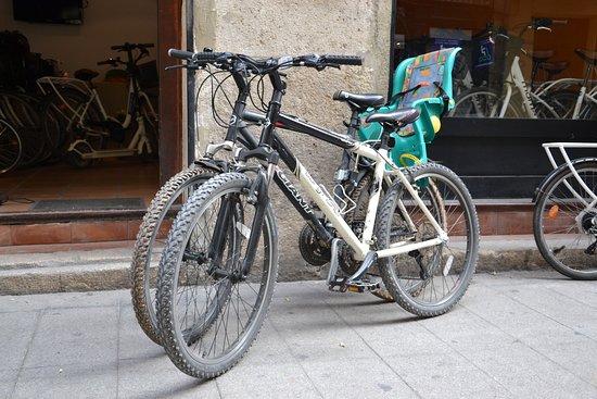 rent bike with child seat or child bike