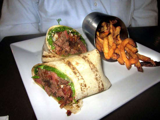 Beef Wrap with French Fries