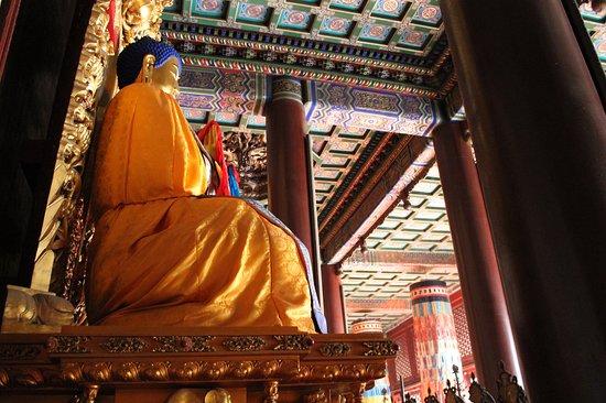 Beijing, Cina: Buddda w Świątyni Lamy